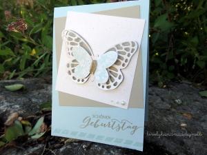 Karte Schmetterlingsgruß