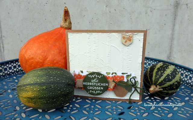 Herbstkarte Stampin´up!